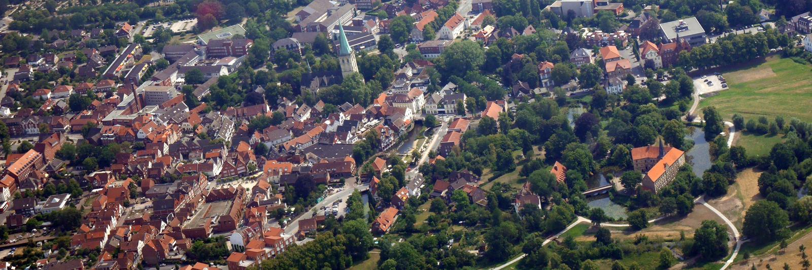 Stadt Lüdinghausen von oben