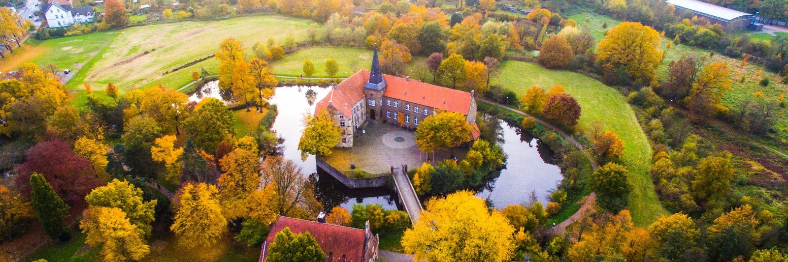 Burg Lüdinghausen von oben